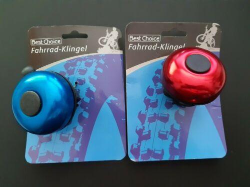 5,5 cm rot oder blau NEU BEST CHOICE Fahrradklingel Ø ca