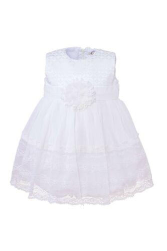 Edel Taufkleid Festkleid Blumenmädchen Sommer Kleid Baumwolle  68 74 80