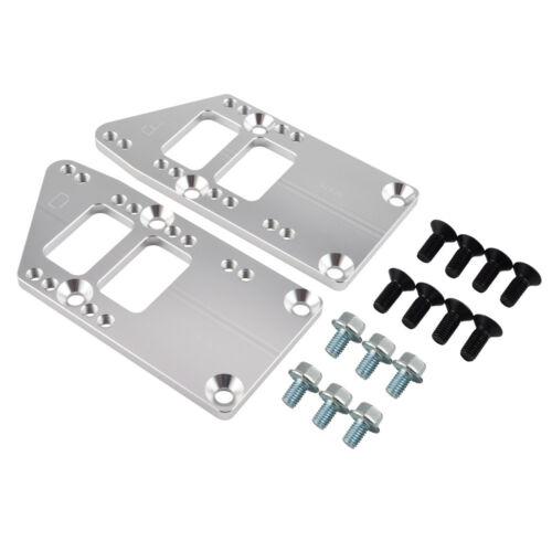 LS Billet Engine Conversion Motor Mount Adapter Plates Swap Kit For Chevrolet