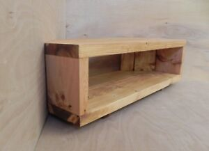 Image Is Loading Corner Tv Stand Unit Table Handmade Rustic Chunky