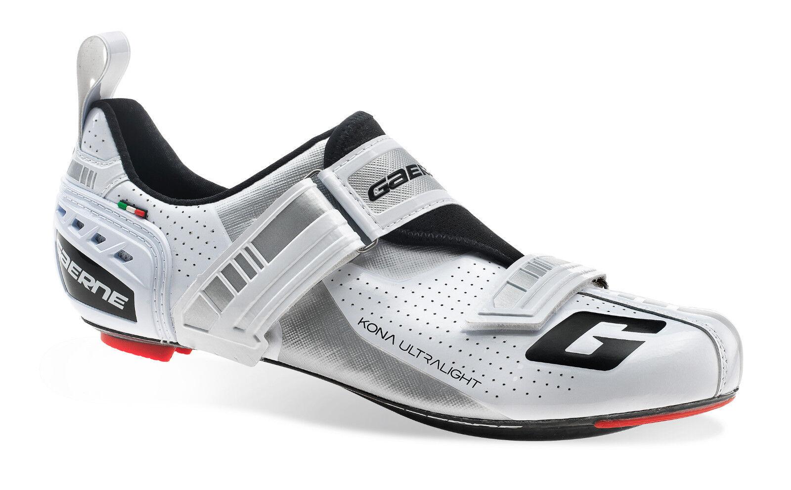 Gaerne Carbon G. Kona Triathlon schuhe-Weiß Größe 46