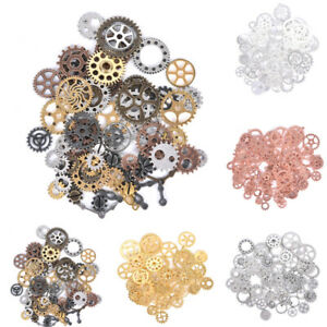100Gram-Approx70Pcs-Metal-Mixed-Gears-Charms-Pendants-DIY-Jewelry-Findings-Gift
