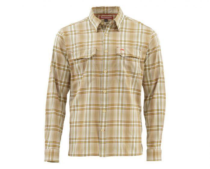 Simms Legend Long Sleeve Shirt-Briar Plaid - Size Medium - Closeout