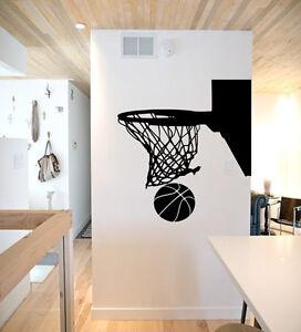 Image Is Loading Basketball Hoop Wall Decal Basketball Wall Decor Basketball