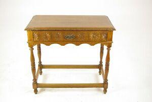 B1420a Tiger Oak Carved Oak Table Antique Oak Table Scotland 1910