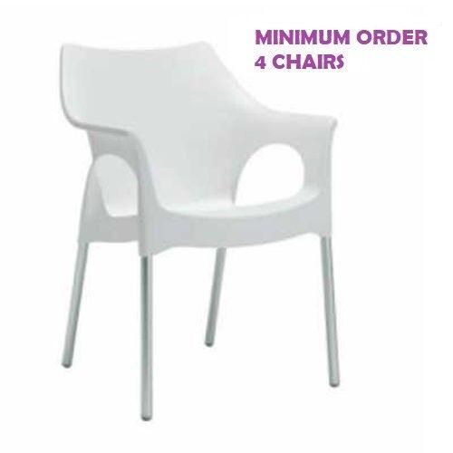 caldo OLA OLA OLA - Outdoor polypropylene stackable chair. Linen colore. SCAB DESIGN  la migliore selezione di