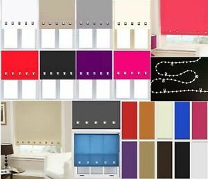 Roller-Blinds-Easy-Fit-Trimable-Home-Office-Window-Square-Eyelet-Roller-Blind
