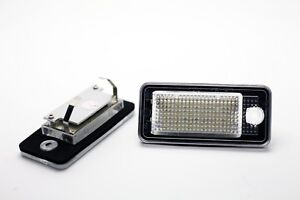 2x LED LICENSE NUMBER PLATE LIGHT AUDI A6 C6 S6 4F AVANT CANBUS + GIFT