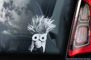 Beaker-Voiture-Fenetre-Sticker-The-Muppet-Show-Peeper-Signe-Decalque-V01