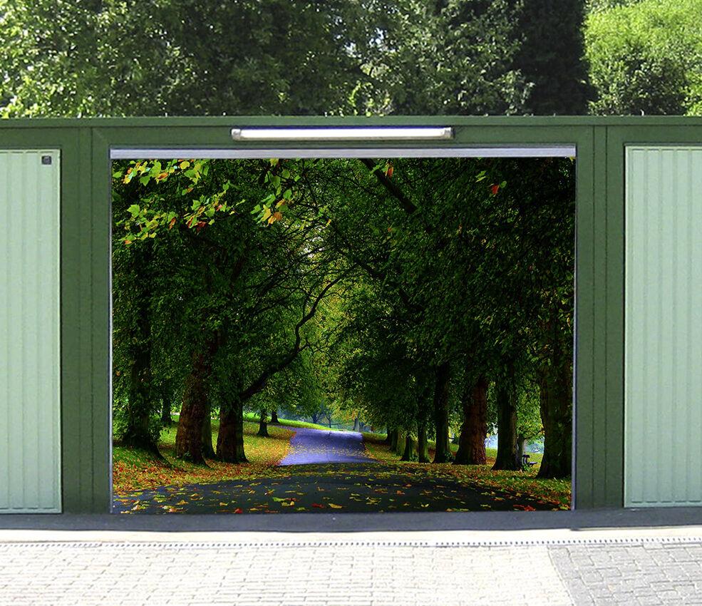 3D Woods view 66 Garage Door Murals Wall Print Decal Wall Deco AJ WALLPAPER UK