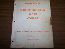 Original Mf 82 Combine Massey Ferguson Factory Parts Book Manual Catalog