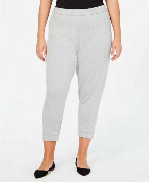 2c49624e6f4ba Eileen Fisher Plus Size Dark Pearl TENCEL ORGANIC COTTON FLEECE Slouchy  Pants