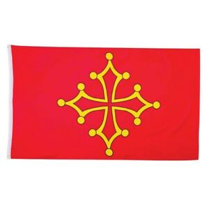 Okzitanien Fahne Mittelalter Flagge 90x150cm