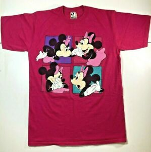 Vintage-Disney-Design-Minnie-Mouse-T-Shirt-SMALL-MEDIUM-Magenta-Pink-90s-80s-USA