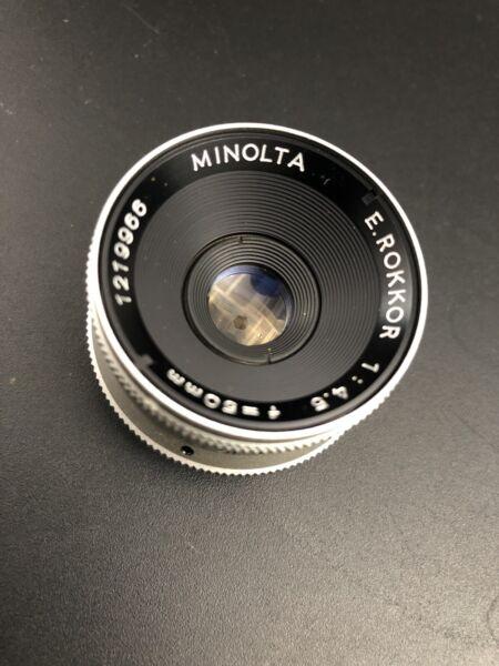 Appris Minolta E Rokkor 50 Mm F4.5 Agrandisseur Objectif Pas De Frais à Tout Prix