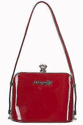 Shoulder Red Banned 50s Bag Shiny Dancing Glossy Days Rockabilly Handbag Clutch AfwU7f1x