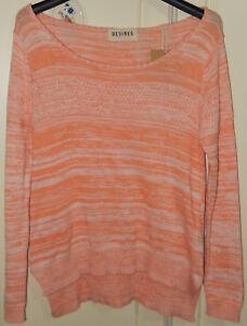 Desires Knit S Asymmetric Knitwear Women Small Size Jumper Sweater Top Orange FqawdXa