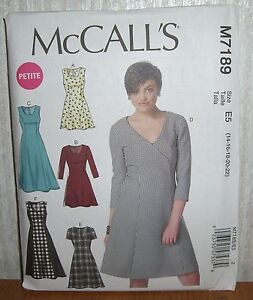 07c4b10b Details about Womens/Misses & Petite Dresses Sewing Pattern/McCall's  M7189/SZ 14-22/UCN