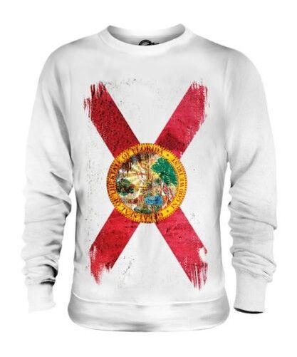 Florida État Drapeau Grunge Unisexe Pull Floridian T-Shirt Jersey Cadeau