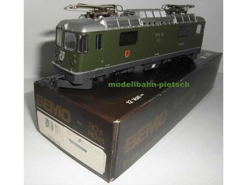 BEMO h0e 1058112  RHB Ge 4/4 E-Lok 612 Thusis  NUOVO IN SCATOLA ORIGINALE