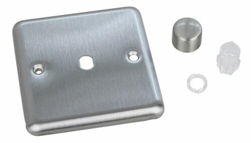 Varilight WS1 Classic Matt Chrome 1 Gang gradateur plaque seulement boutons
