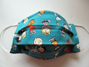 Snoopy Design Face Mask W Filter Pocket Washable Reusable Cotton Fabric Adult Ebay