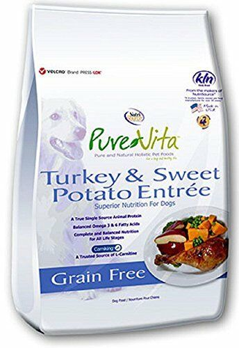 PureVita Grain Free Turkey & Sweet Potato Dry Dog Food - 25lb