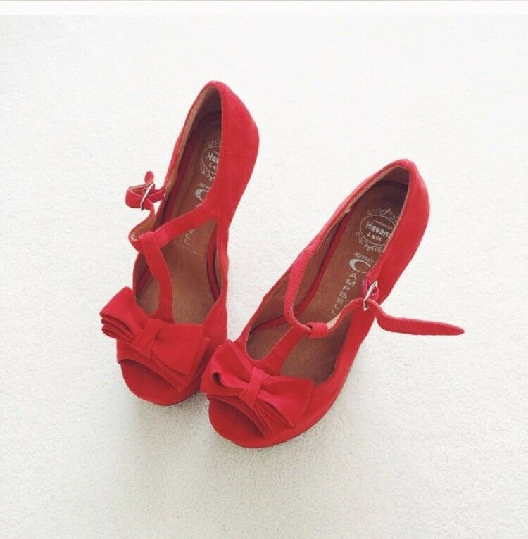 Jeffrey Campbell Havana Last rouge Heeless Accent Bow Platform Taille 36 New