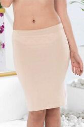 Damen Unterrock Baumwolle Modal Blickdicht übers Knie Underskirt Jupon Zigma