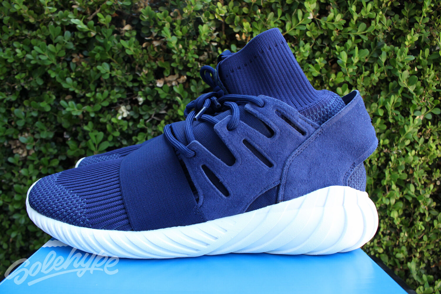 ADIDAS TUBULAR DOOM PK PRIMEKNIT SZ 11 NIGHT MARINE WHITE NAVY BLUE WHITE MARINE S80103 8dc401