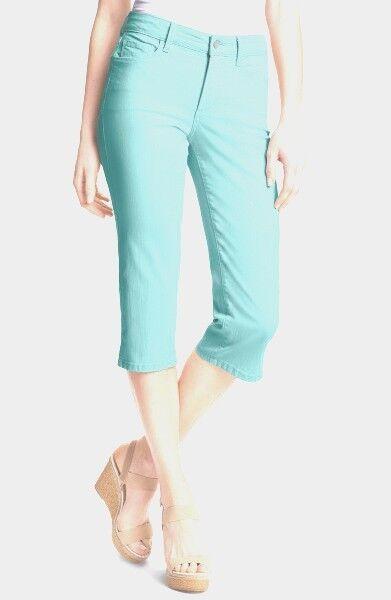 NEW NYDJ Not Your Daughters Jeans pants NANETTE chevy bluee crop capri khaki 2