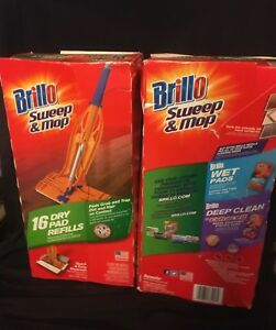 Brillo-Sweep-amp-Mop-Dry-Pad-Refills-2-box-with-16-Refills-each-32-total-Armaly
