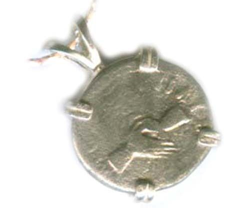 98AD Ancient Silver Roman Denarius Emperor Nerva Goddess Concordia Clasped Hands