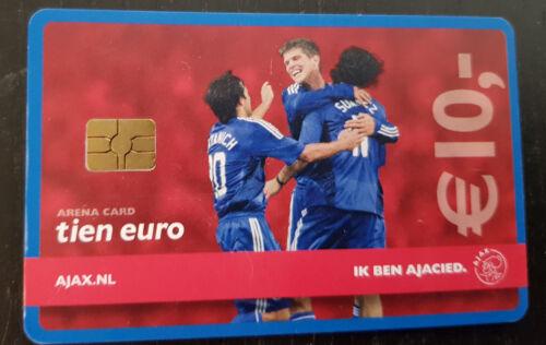 Spelvreugde in uit-tenue Amsterdam Arena Card 2008 10 euro Ik ben Ajacied