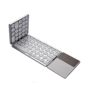Wireless-Keyboard-with-touchpad-Three-fold-Portable-Rechargeable-Bluetooth