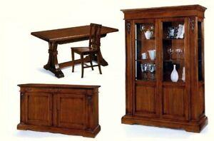Credenza Camera Da Pranzo : Sala da pranzo completa arpa vetrina credenza tavolo all sedie