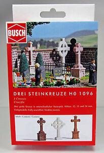 Busch 1096 Pierre Croix H0 Scale 1 87 Nouveau Neuf Dans Sa Boîte-afficher Le Titre D'origine Chaud Et Coupe-Vent