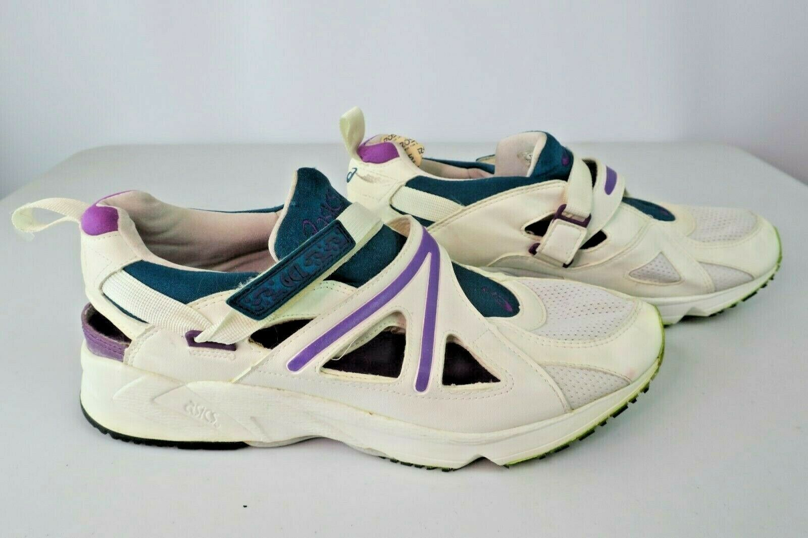 Asics VTG 80s TY-506 Cut-Out Trainers Lace-Free Fasteners Dad-scarpe NOS Grandpa
