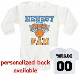 Détails sur Baby Body nouveau fan New York Knicks New York basketball one piece Jersey afficher le titre d'origine