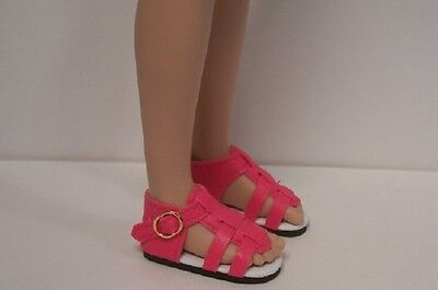 "Doll Shoes 50mm LIGHT PINK t-Straps fit P90 Toni Hopscotch Hill 14/"" Betsy"