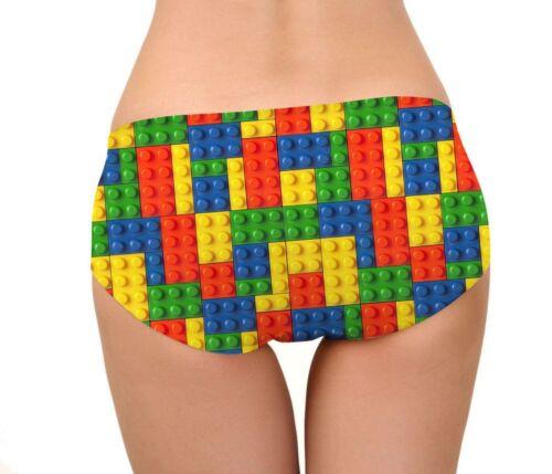 Multi Colore LEGO BRICKS Stampa Donna Casual biancheria intima slip taglia M codice PH4