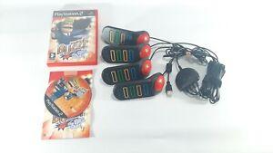 Set-di-4-PS2-Buzz-Controller-amp-il-grande-quiz-Sony-PlayStation-2-testato-in-buonissima-condizione