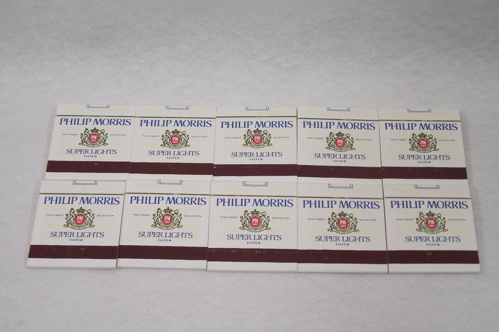 Lot de 10 pochettes de 18 allumettes PHILIP publicitaire PHILIP allumettes MORRIS Vendôme Tabac 1aa024