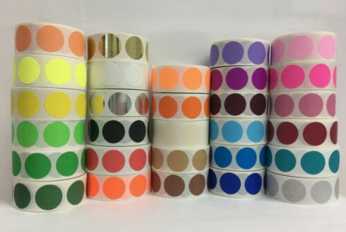 """0.75/"""" Round CYAN BLUE Coding Stickers Dots Warehouse Inventory Labels 1000//RL"""