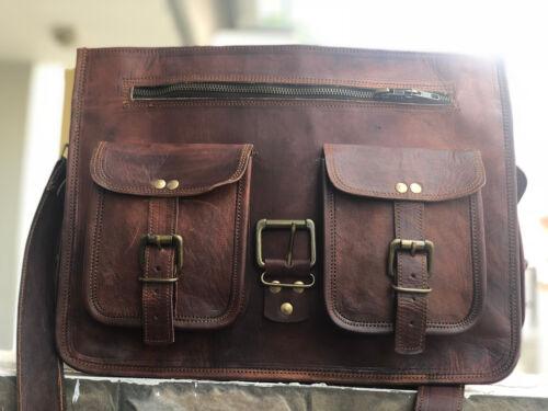 Men/'s Business Case Briefcase Leather Shoulder Suitcase Messenger Laptop Bag
