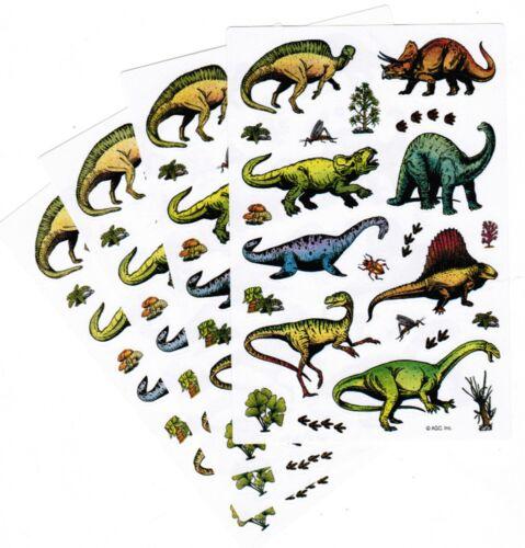 Dino Prints Bugs Fauna Bugs 4 Sheets Dinosaur DINO Scrapbook Stickers