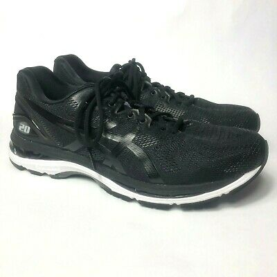 compensar fama matar  Asics Gel-Nimbus 20 Men's Sz 12 Extra Wide Running Shoes T801N Black White  | eBay