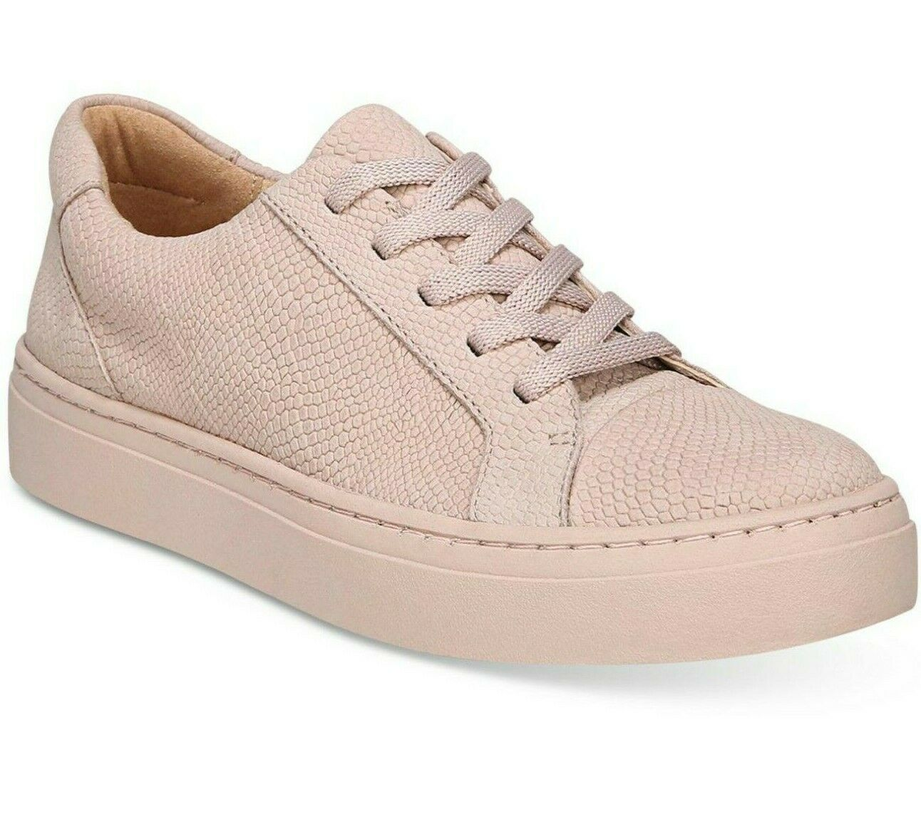 Naturalizer Cairo Lace Up Fashion SNEAKER  LEATHER Size 8.5 W PINK