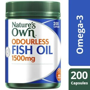 Nature's Own Odourless Fish Oil 1500mg Capsules 200 pack