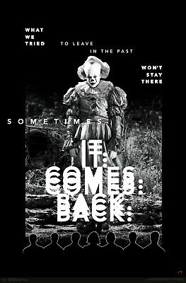 COMES BACK POSTER 22x34 MOVIE PENNYWISE 17659 IT CHAPTER 2